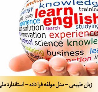 زبان طبیعی - مدل مولفه فرا داده - استاندارد ملی 21871-1
